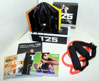 Wholesale Shaun T Focus T25 Workout Alpha Beta Core With or Without Resistance Band or Disc dvd boxset by DHL freeshipping