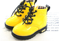 Spring / Autumn child boots - Martin boot boy girl Autumn winter add wool boots British children leather shoes children s boots
