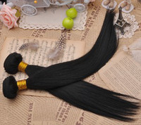 Wholesale NEW AAAAA quot quot straight hair color b BULK STOCK human hair virgin indian remy hair DHL