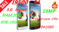 "5.0 Android 1G Best selling Galaxy original 1:1 i9500 S4 android phones 1920*720 Quad-core CPU 5.0""IPS 1GB RAM+4G ROM 12MP"