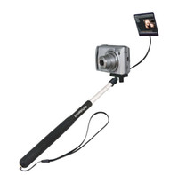 Wholesale T LM Self Portrait Extendable from cm to cm Hand Held Monopod Monopods tripods with Mirror for Digital Camera