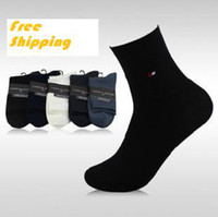 Wholesale Brand New Men s Bamboo Fiber socks in tube socks cotton five colors pairs size to drop shipping