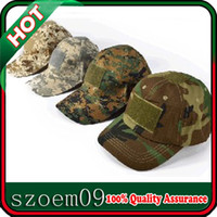Wholesale With Adjustable Velcro Patch Reinforced Air Vent Holes Special Forces Operator Military Tactical Army Baseball Cap Hat