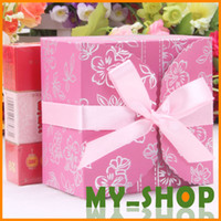 Wholesale Creative wedding supplies personality style wedding box square wedding candy packaging box gift box colors