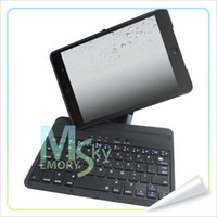 Wholesale Bluetooth Keyboard For Inch Mini iPad Keyboard Case for iPad Mini Folio Style Cover with Degree Rotating Viewing Stand