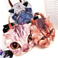 Wholesale Hot Fashion Cat Dog Face Tote Bag Handbag Purse Japan Set of Muchacha Ahcahcum