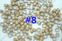 Wholesale 1 bottle mm mm mm Micro Silicone Rings Links Beads For Human Hair Extensions Dark Blonde Colors Optional