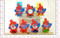 Wholesale 50pcs Mix Design Spiderman Robot Superhero Cat Bird Bob Boys Girls Kids Slap Watches Fashion Children Dress Silicone Wristwatch Bracelet