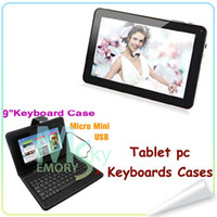 Wholesale Hot Sale Allwinner A13 Dual camera Android Tablet PC Wifi G DDR3 MB GB FLASH10 keyboard cases