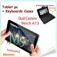 Android 4,2 9 pouces écran capacitif WIFI de la tablette PC de 512M 8G A23 Dual Core appareil photo ALLwinner 1,5 GHZ avec étui clavier 000856A