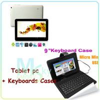 Wholesale 9 inch tablet pc Android A23 A13pro Capacitive Screen MB GB Wifi Tablet PC dual core dual camera keyboard cases A
