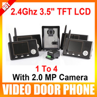 Wholesale 4Pcs Ghz quot TFT LCD Wireless Video Door Phone Doorbell with MP Camera The Intercom System To