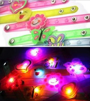 Wholesale Children s LED flash lighting jelly glow bracelets cartoon wristband candy colors atmosphere props party wristbands bracelet toys gift