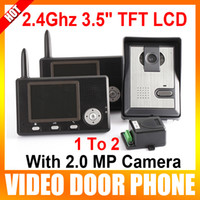 Wholesale The Wireless Video Door Phone Ghz quot TFT LCD Monitors With MP Camera Intercom System To