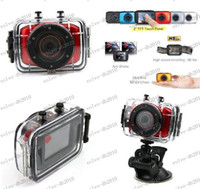 HDD / Flash Memory 2'' - 3'' Less than 10x LLFA2232 3PCS lot New arrival HD Extreme Sports Action Camera Waterproof Sports Video Camera Camcorder DV