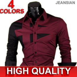 Wholesale NEW Mens Fashion Cotton Designer Cross Line Slim Fit Dress man Shirts Tops Western Casual S M L XL