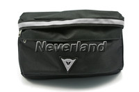 Wholesale Neverland Adjustable Men s Waist Pack Canvas Bag Shoulder Bag Messenger Black And Silver