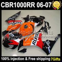 For Honda fairings - 7gifts Injection Mold For HONDA CBR1000RR Red white black Q1 CBR RR Repsol Orange CBR1000 RR Fairing