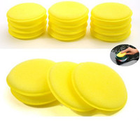 10cm car cleaning sponge - 60Pcs Waxing Polish Wax Foam Sponge Applicator Pads For Clean Car Vehicle Glass Free HZC018