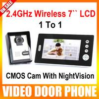 Wholesale 2 GHz Inch Wireless Video Door Phone Audio Visual Intercom Doorbell Monitor With CMOS Camera to