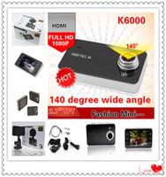 Wholesale Bulit in Battery Original Novetak K6000 fps P HDMI Full HD Car DVR quot Recorder Video Dashboard Vehicle Camera Car Black Box
