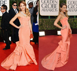 Wholesale New Arrival Sexy Mermaid Sweetheart Jessica Alba Mermaid Formal Dress at Golden Globe Awards Red Carpet Celebrity Dresses