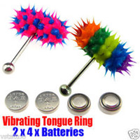Cheap Stainless Steel vibrating tongue ring Best Chirstmas Unisex tongue ring