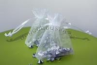 Wholesale white Organza Jewelry Wedding Gift Bags x9cm X4 Inch Christmas Wedding x7cm Candy Bag