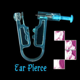 Wholesale 12Pcs Safety Healthy Asepsis Disposable Ear Stud Piercing Gun Piercer Kit Tool HZC022