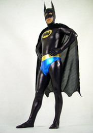 Wholesale New Batman Lycra Spandex Sexy Halloween Party Zentai Costume