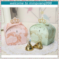 Wholesale Hot Selling Crown Favor Wedding Candy Boxes Party Gifts Packing Paper Chocolate Package