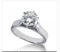 Wholesale 0 Ct ROUND DIAMOND K GOLD SOLITAIRE ENGAGEMENT RING