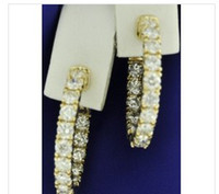 Wholesale 3 ct DIAMOND EARRING HOOP EARRINGS YELLOW GOLD K