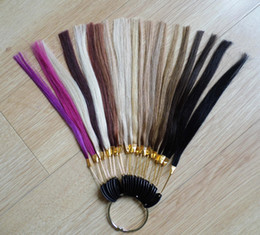 Wholesale 21 colors set indian human hair color ring color chart for hair extensions color reference