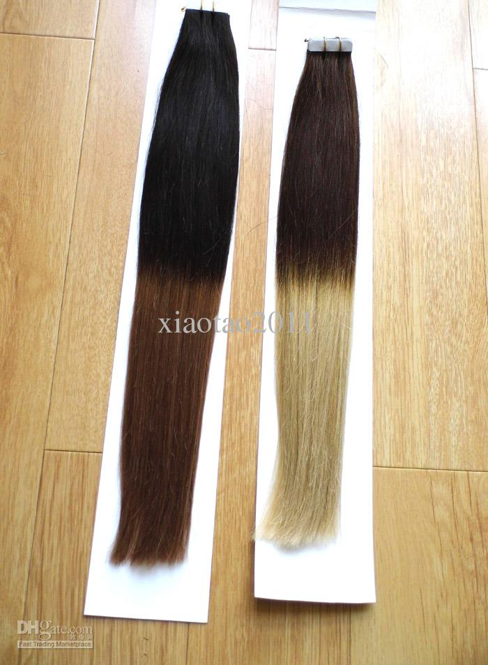 Miracle 18inch 20inch 100g indian glue skin pu tape in ombre two miracle 18inch 20inch 100g indian glue skin pu tape in ombre two tone dip dye t color remy hair extensions stock ombre hair online with 8307set on pmusecretfo Image collections
