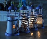 Wholesale New Design Iron Lantern Candle Holders in Mediterranean Styles Candlesticks Candelabra for Birthday Wedding decoration Home Decor