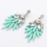 Wholesale Promotion Charms wings Drop With Shinning Diamond Stud earrings For Ladies For Ladies