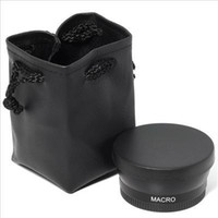 Wholesale 100 GUARANTEE MM X Wide Angle Lens Macro Lens Bag for Nikon D5000 D5100 D3100 D7000 D3200 D80 D90
