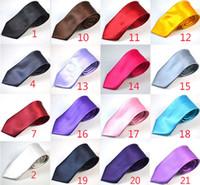Wholesale New Arrive CM Mens Necktie Neck Tie Fashion Solid Color Wedding Ties Men Accessories