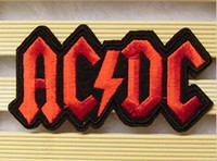 Patches ac cm - Wholesales High Quality Punk Patch Rock Band AC DC x cm Embroidered Applique Cool Iron On Patch