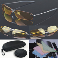 Wholesale High end night vision driving glasses polarized aviator glasses glasses