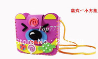 Wholesale DIY Handmade EVA Bag multicolour D cartoon eva foam backpack EVA Art Craft Kits Educational toys for Children Gift