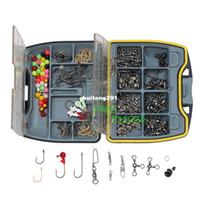 Wholesale On Sale Fishing kit barrel swivels snaps spilt open rings beads jigs hooks sinker weight OSSW02