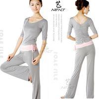 Wholesale Long sleeve yoga clothes piece set dance clothes yoga fitness clothes female set yoga clothing