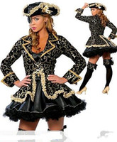 Women People Halloween Hot Sale Deluxe Pirate halloween costumes for women one-eyed witch suit Cheaper price Free Shipping