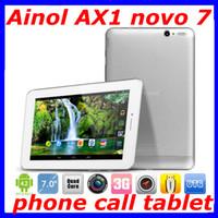 Wholesale Latest Ainol Novo AX1 Numy Android Tablet Phone MP Camera Quad Core MTK8389 GHz HDMI G WCDMA Dual Sim G Rom phone call tablet
