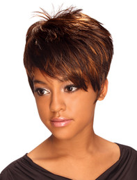 New Arrival Hot Short Straight Synthetic Mix Color Hair Ladys' Hair Wig Heat Resistant Full Wigs suit for Natrurall Daily Life