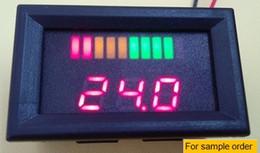 Wholesale 10 bar LED Digital Battery Charge Indicator meter with voltage indication For Golf Cart e motorcycle sweeper V V V V V