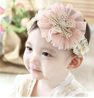 Wholesale Children tire double color cotton lace headbands children not tight baby tire comfortable within years old children use