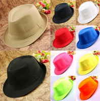 Wholesale Mens Plain Solid Color Casual Dress Fedora Cuban Style Upturn Short Brim Cap Hat